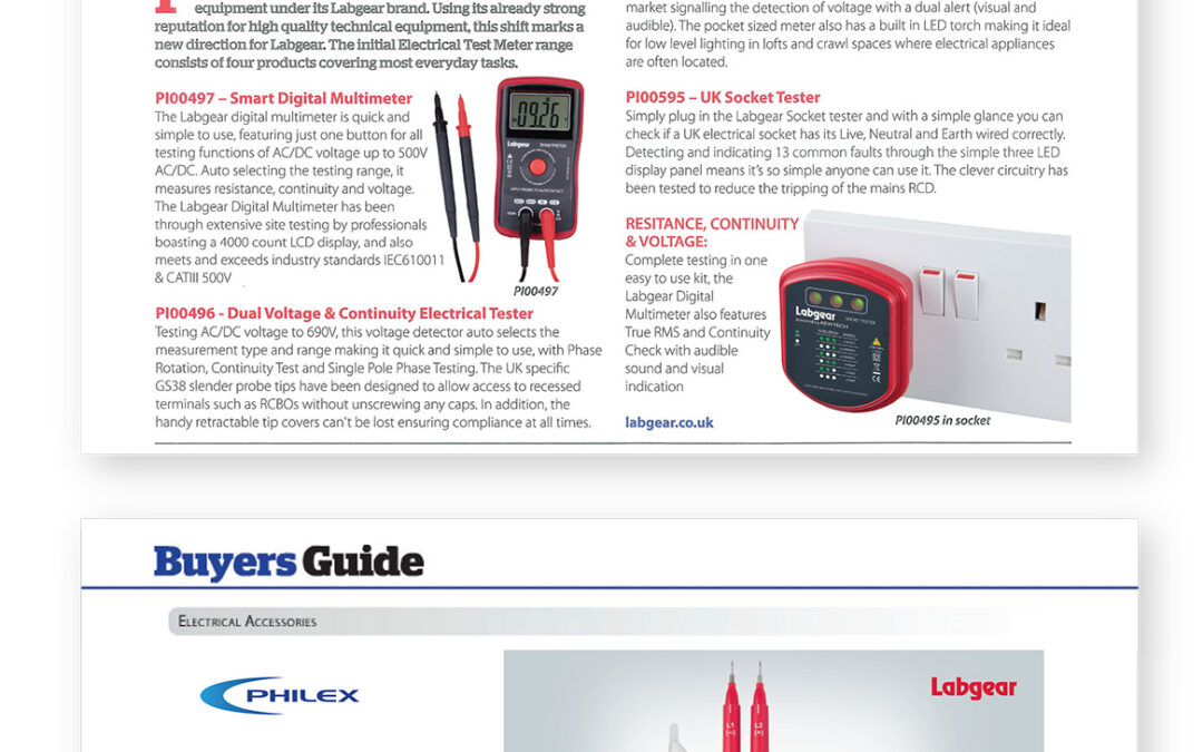 Labgear Electrical Test Meters Featured in Electrical Wholesaler Magazine